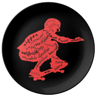 Skateboard Typography - Room Decor Plate