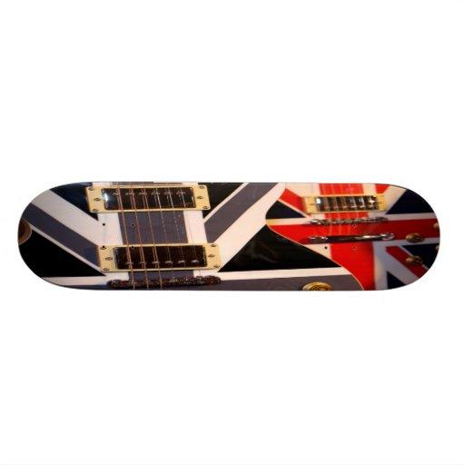 Skateboard union jack guitars