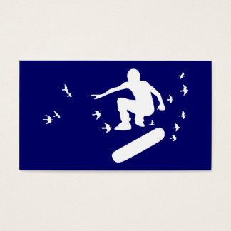 skateboard with birds business card