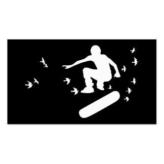 skateboard with birds pack of standard business cards