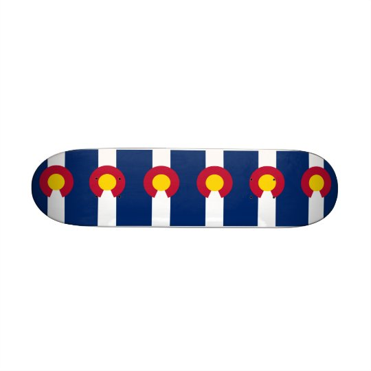 Skateboard with flag of Colorado