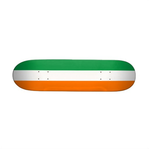 Skateboard with flag of Ireland