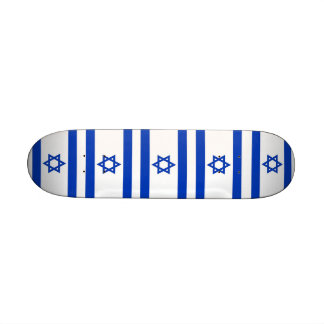 Skateboard with flag of Israel