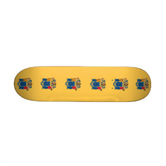 Skateboard with flag of New Jersey