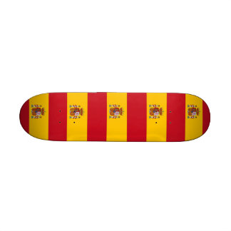 Skateboard with flag of Spain