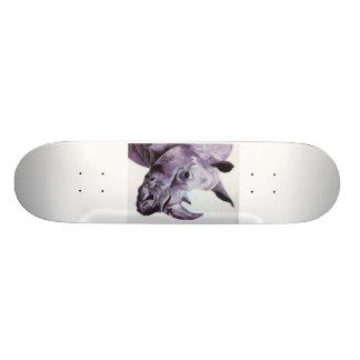 Skateboard with Rhino design