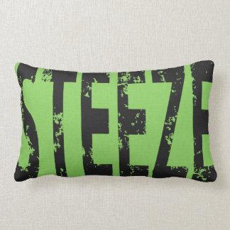 Skateboard Word Art Steeze Throw Pillow Green Grey Throw Cushions