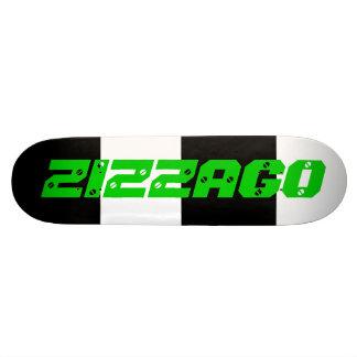 Skateboard Zizzago Bright Lime Black White Skate Decks