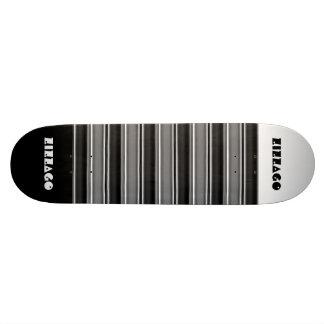 Skateboard Zizzago White Black Stripe Custom Skateboard