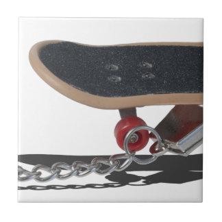 SkateboardAndHandcuffs081914 copy Small Square Tile