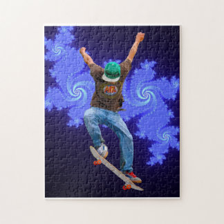 Skateboarder Action Sports Art Puzzles