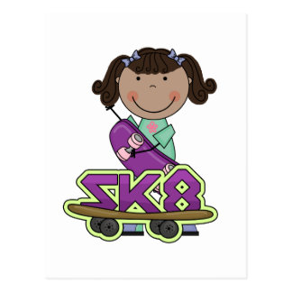 SKATEBOARDER -African American Girl Tshirts Postcards
