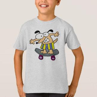 Skateboarder Character Skateboarding Fun Skateboar T-Shirt