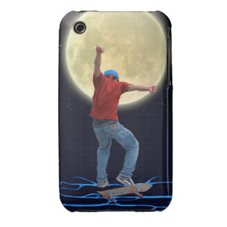 Skateboarder & Full Moon 2 Action Sports Art iPhone 3 Covers