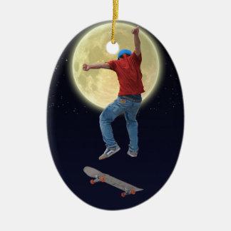Skateboarder Get Some Air Action Street Kulcha Art Christmas Ornament