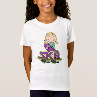 Skateboarder Girl Extreme Sports T-shirt