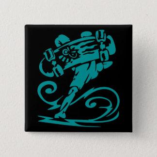 Skateboarder Handstand 15 Cm Square Badge
