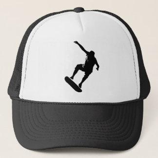 Skateboarder in Black Graphic 2 Trucker Hat