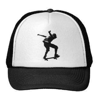 Skateboarder in Black Graphic Cap