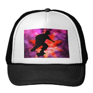 Skateboarder in Cosmic Clouds Cap