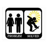 SKATEBOARDER  PROBLEM SOLVED POSTCARD