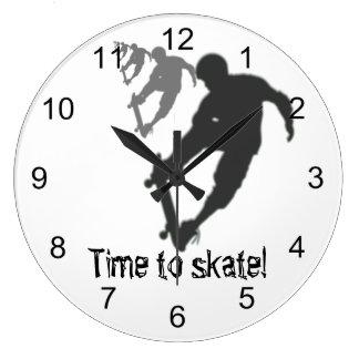 Skateboarder Round Wall Clock