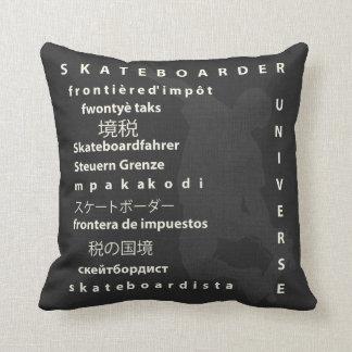 Skateboarder Universe Reversible Word Throw Pillow Throw Cushions