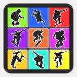 Skateboarders Pop Art Sticker