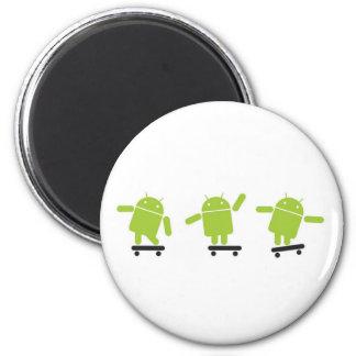 Skateboarding Android Magnet