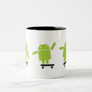 Skateboarding Android Two-Tone Coffee Mug