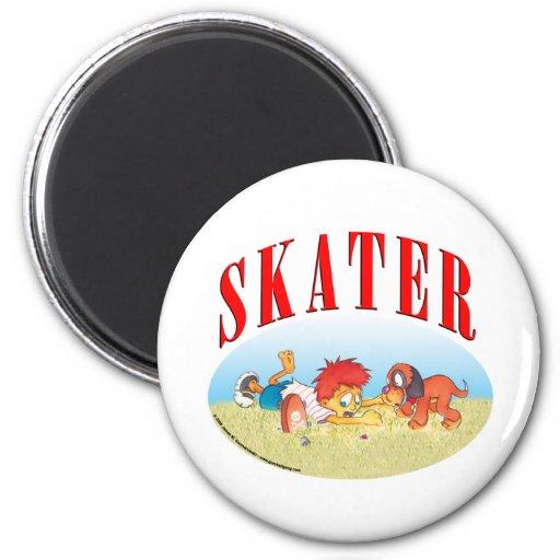 Skateboarding Boy Magnets