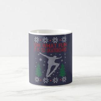 SKATEBOARDING CHRISTMAS COFFEE MUG