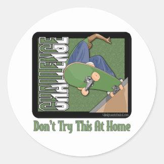 Skateboarding Classic Round Sticker