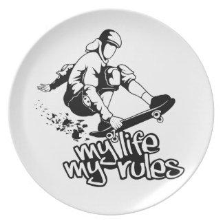 Skateboarding custom plate