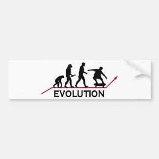 Skateboarding Evolution Bumper Sticker