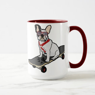Skateboarding French Bulldog Mug
