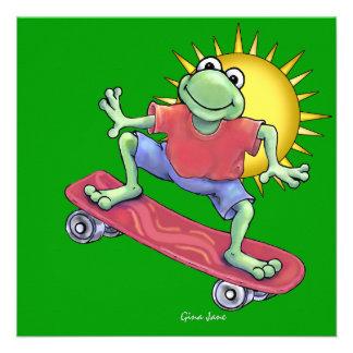 Skateboarding Froggy Invitation by SRF