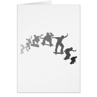 Skateboarding Greeting Card