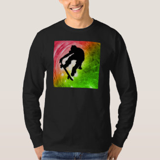 Skateboarding in a Psychedelic Cyclone T-Shirt