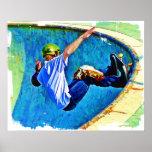 Skateboarding in the Bowl