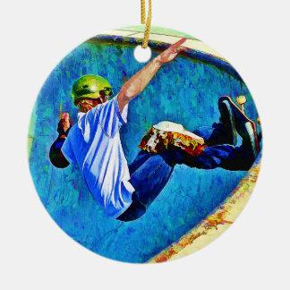 Skateboarding in the Bowl Christmas Ornament