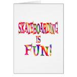 Skateboarding is Fun Greeting Card