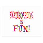 Skateboarding is Fun Post Card