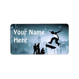 Skateboarding Label