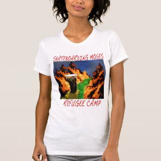 Skateboarding Moses Refugee Camp Design T-Shirt