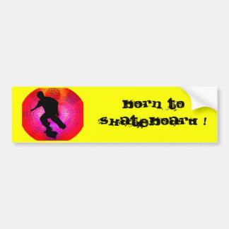 Skateboarding on Fluorescent Starburst Bumper Stickers