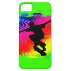 Skateboarding on Rainbow Grunge iPhone 5 Cover