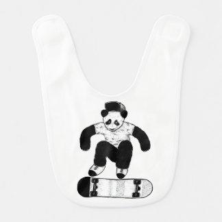 Skateboarding Panda Bib