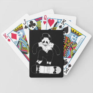Skateboarding Panda Bicycle Playing Cards