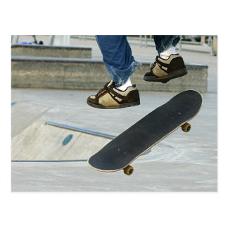 Skateboarding Post Card